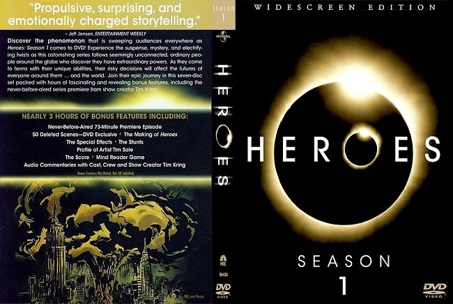 dvd cover Heroes - Season 1 2007 Dvd Cover