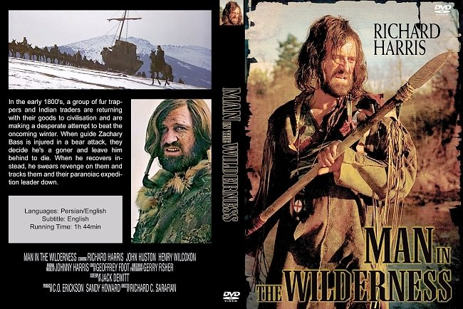 dvd cover Man In The Wilderness 1971 Dvd Cover