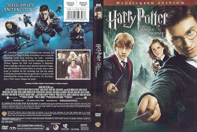 dvd cover Harry Potter And The Order Of The Phoenix 2007 Dvd Cover