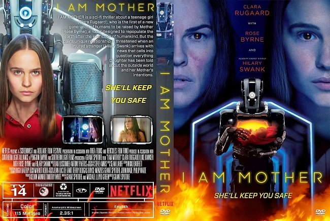 dvd cover I Am Mother 2019 Dvd Cover