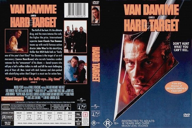 dvd cover Hard Target 1993 Dvd Cover