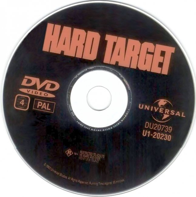 dvd cover Hard Target 1993 Disc Label Dvd Cover