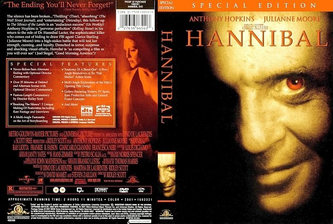 dvd cover Hannibal - Special Edition 2001 Dvd Cover