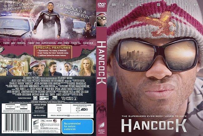 dvd cover Hancock 2008 Dvd Cover