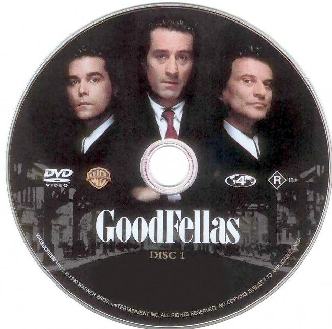 dvd cover GoodFellas 1990 Disc Label Dvd Cover