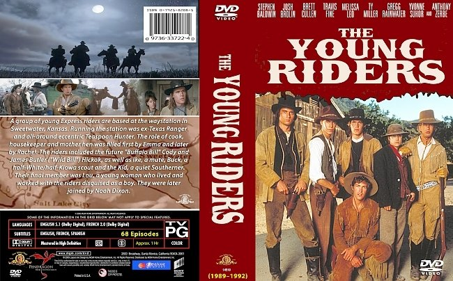 dvd cover The Young Riders Complete Series 1989-1992 Dvd Cover