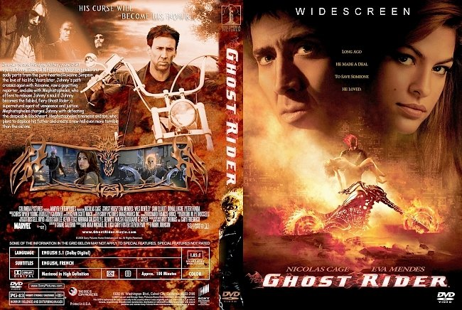 dvd cover Ghost Rider 2007 Dvd Cover