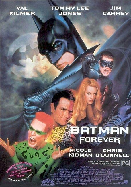 dvd cover Batman Forever 1995 Original R1 Front Dvd Cover