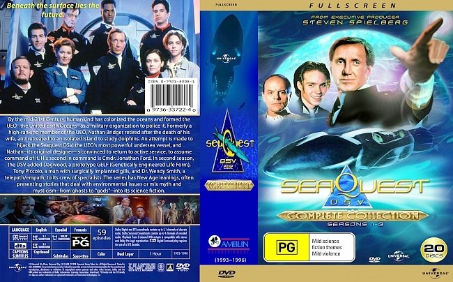 dvd cover Seaquest DSV 2032 Complete Series 1993-96 Dvd Cover
