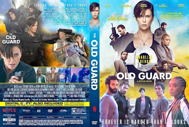 dvd cover The Old Guard 2020 Dvd Cover