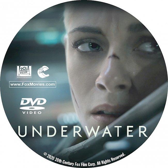 dvd cover Underwater 2020 DVD Label Custom Dvd Cover