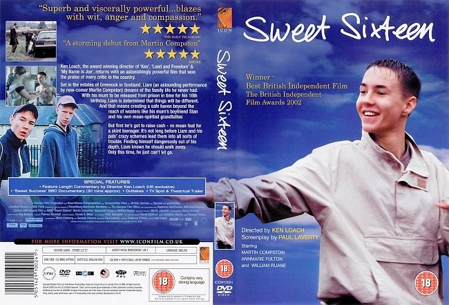 dvd cover Sweet Sixteen 2002 Dvd Cover