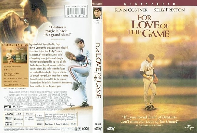 dvd cover For Love Of The Game 1999 Dvd Cover