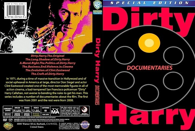 dvd cover Dirty Harry Documentaries 2008 Dvd Cover