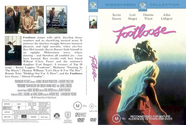 dvd cover Footloose 1984 Dvd Cover