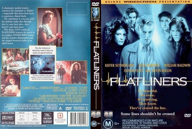 dvd cover Flatliners 1990 Dvd Cover