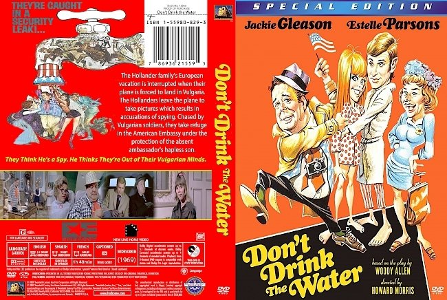 dvd cover Don't Drink The Water 1969 Dvd Cover