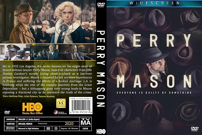 dvd cover Perry Mason 2020 Dvd Cover