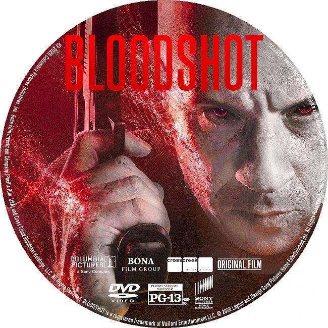 dvd cover Bloodshot 2020 DVD Label Custom Dvd Cover