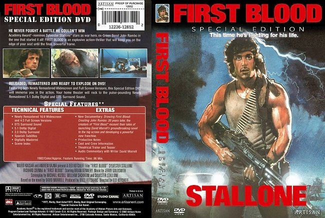 dvd cover First Blood - Special Edition 1982 Dvd Cover