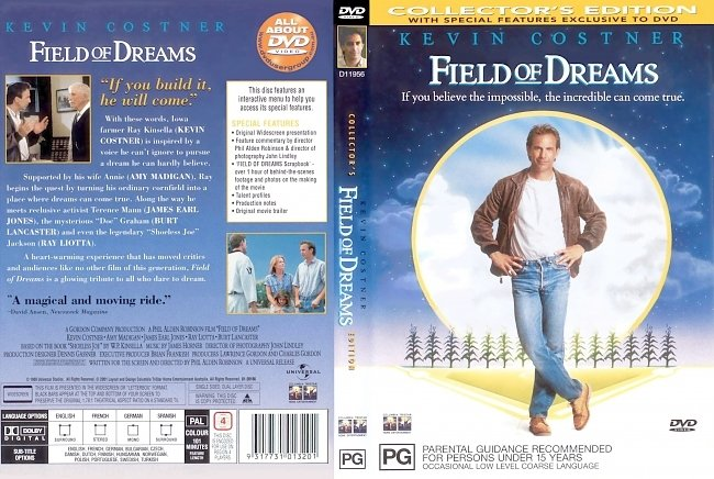 dvd cover Field Of Dreams - Collectors Edition 1989 Dvd Cover