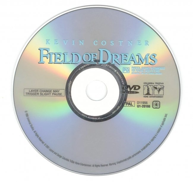 dvd cover Field Of Dreams 1989 Disc Label Dvd Cover