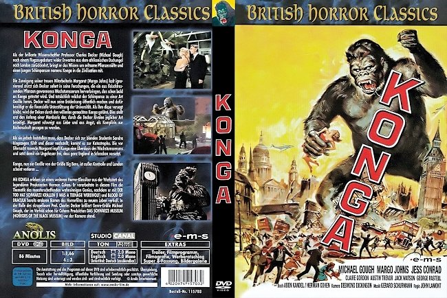 dvd cover Konga 1961 Dvd Cover