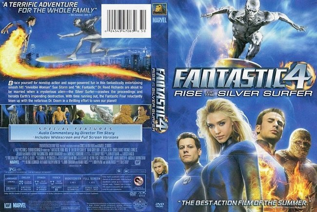 dvd cover Fantastic 4 - Rise Of The Silver Surfer 2007 Dvd Cover