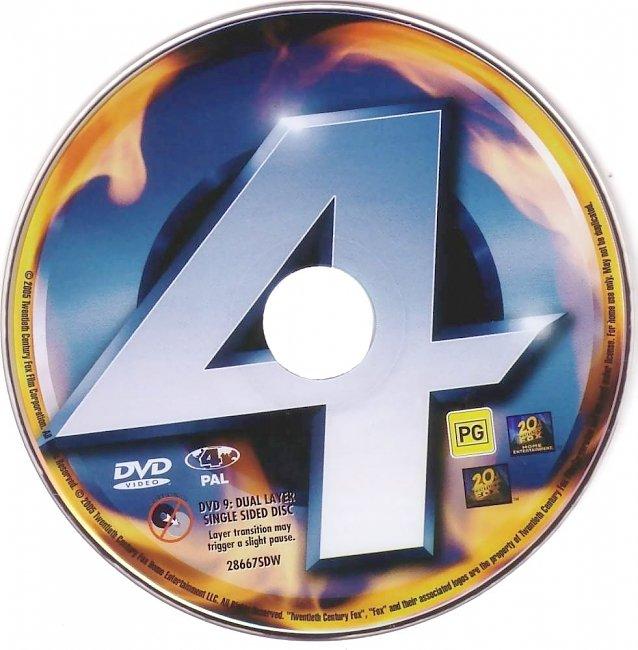 dvd cover Fantastic 4 2005 Disc Label Dvd Cover