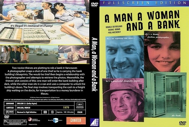 dvd cover A Man, A Woman And A Bank 1979 Dvd Cover