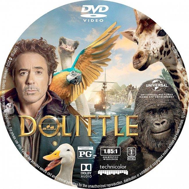 dvd cover Dolittle 2020 R1 DVD Label Custom Dvd Cover