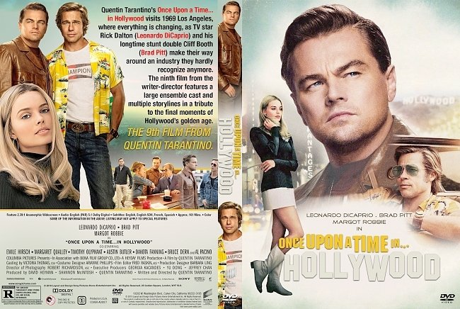 dvd cover Once Upon A Time In Hollywood 2019 Dvd Cover