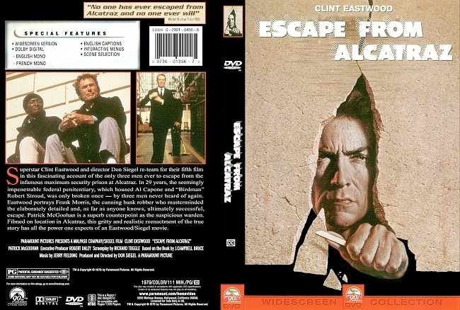 dvd cover Escape From Alcatraz 1979 Dvd Cover
