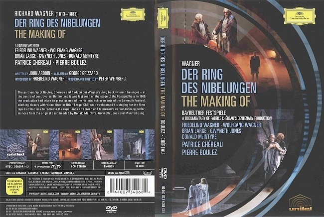 dvd cover Wagner - Der Ring Des Nibelungen. The Making Of 2005 Dvd Cover