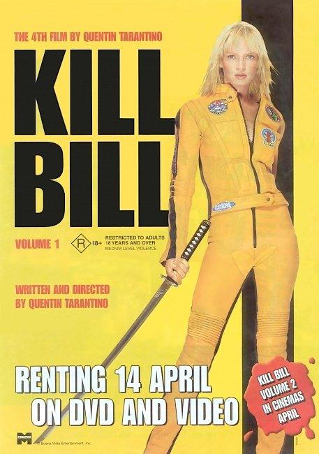 dvd cover Kill Bill - Volume 1 2003 Original R1 Front Dvd Cover