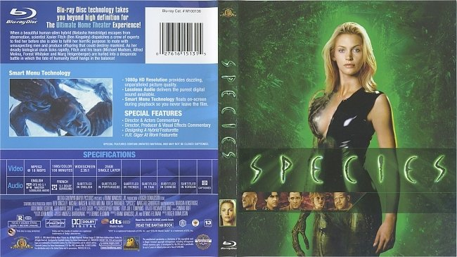 dvd cover Species 1995 Dvd Cover