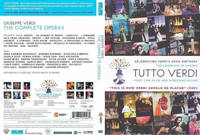 dvd cover Verdi - Tutto Verdi. The Complete Operas 2012 Dvd Cover