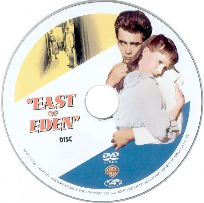 dvd cover East Of Eden 1955 Disc Label Dvd Cover