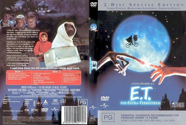 dvd cover E.T. The Extra Terrestrial 1982 Dvd Cover