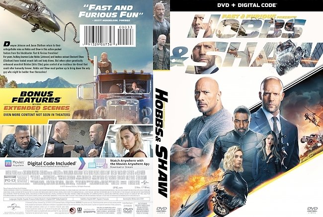 dvd cover Fast & Furious Presents - Hobbs & Shaw 2019 Dvd Cover
