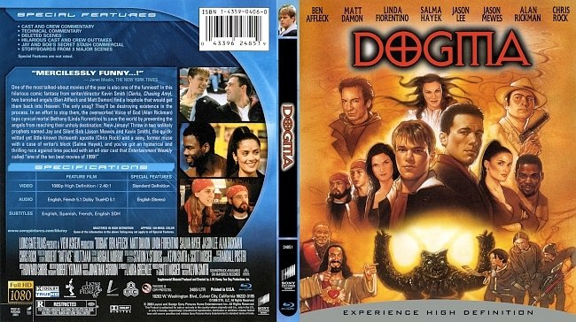 dvd cover Dogma 1999 Dvd Cover