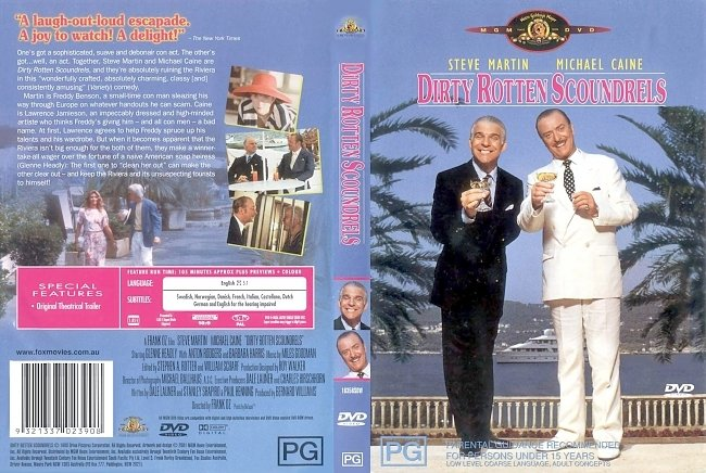 dvd cover Dirty Rotten Scoundrels 1988 Dvd Cover