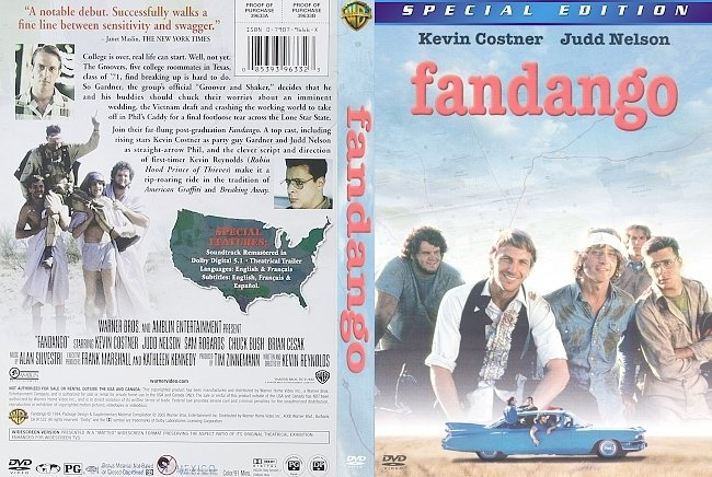 dvd cover Fandango 1985 Dvd Cover