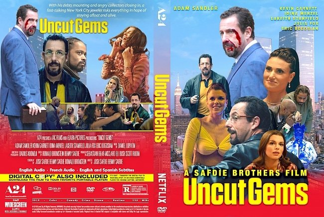 dvd cover Uncut Gems 2019 Dvd Cover