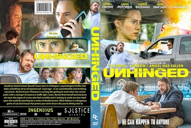 dvd cover Unhinged 2020 Dvd Cover
