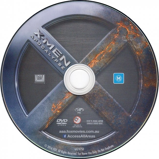 dvd cover X-Men Apocalypse 2016 Disc Label Dvd Cover