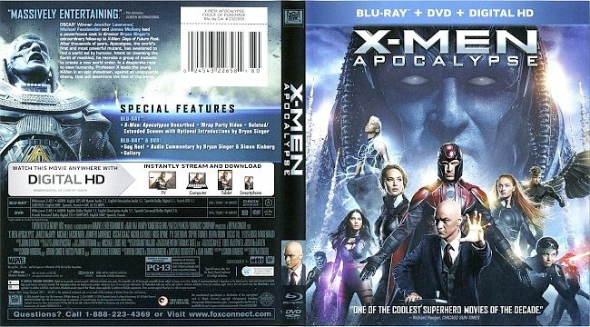 dvd cover X-Men Apocalypse 2016 Dvd Cover