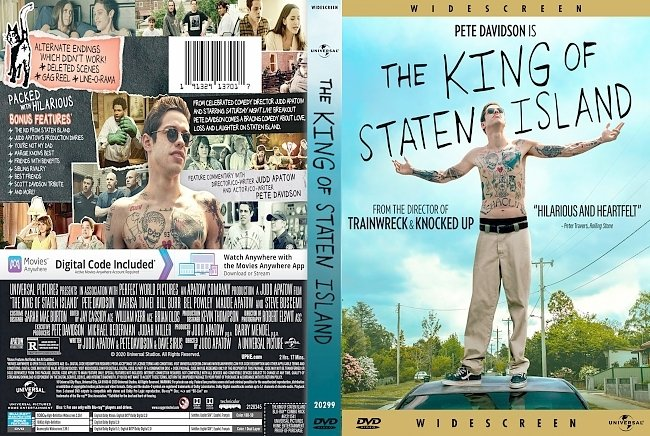 dvd cover The King Of Staten Island 2020 Dvd Cover