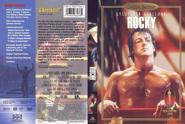 dvd cover Rocky I 1976 Dvd Cover