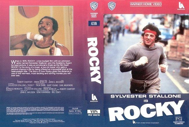 dvd cover Rocky I 1976 WS R1 Original V.H.S Dvd Cover